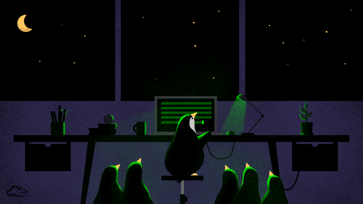 Tux with friends by DigitalOcean